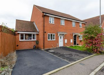 Thumbnail 3 bed semi-detached house for sale in Blyth's Wood Avenue, Costessey, Norwich