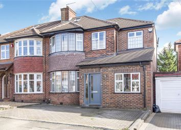 Thumbnail 4 bed semi-detached house for sale in Braithwaite Gardens, Stanmore, Middlesex