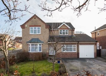 Thumbnail 4 bed detached house for sale in Thompson Drive, Strensall, York