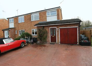 Thumbnail 3 bed semi-detached house for sale in Redwood Avenue, Woodley, Reading