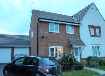 Thumbnail 3 bed semi-detached house for sale in Olympia Way, Hucknall