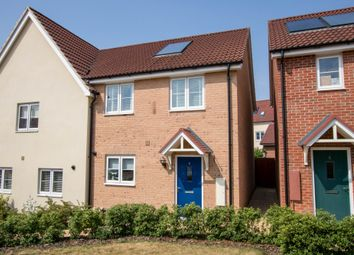 Thumbnail 3 bed semi-detached house for sale in Strachey Close, Saffron Walden