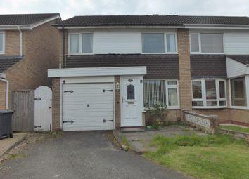 Thumbnail 3 bedroom semi-detached house for sale in Annscroft, Kings Norton, Birmingham