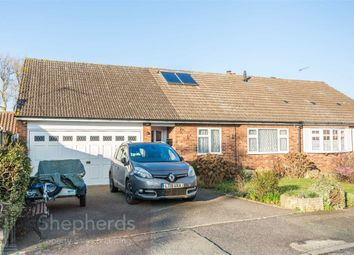 Thumbnail 3 bed semi-detached bungalow for sale in Arundel Close, Cheshunt, Hertfordshire