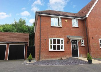 Thumbnail 3 bed semi-detached house for sale in Rowan Close, Claydon, Ipswich
