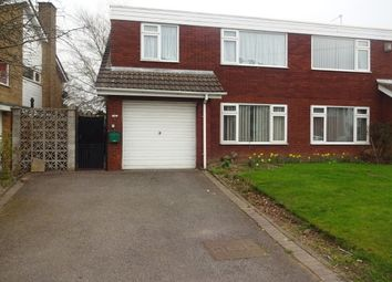 Thumbnail 3 bedroom property to rent in Churchill Road, Walsall