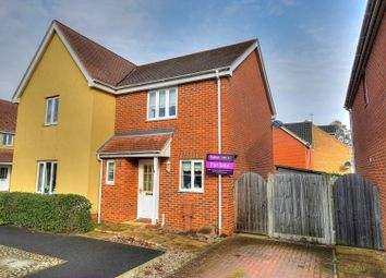 Thumbnail 2 bedroom semi-detached house for sale in Roe Drive, Norwich