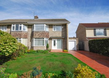 Thumbnail 3 bed semi-detached house for sale in Eddleston Avenue, Gosforth, Newcastle Upon Tyne