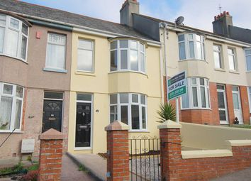 Thumbnail 3 bed terraced house for sale in Fisher Road, Plymouth