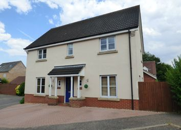 Thumbnail 4 bed detached house for sale in Red Robin Close, Tharston, Norwich