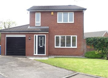 Thumbnail 3 bed detached house to rent in Redvales Court, Birchwood, Warrington