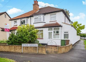 Thumbnail 3 bed semi-detached house for sale in Byron Gardens, Sutton