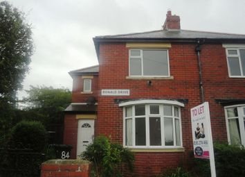Thumbnail 2 bed semi-detached house to rent in Denton Burn, Ronald Drive, Newcastle Upon Tyne