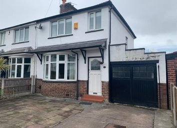 Thumbnail 2 bed semi-detached house to rent in Bazley Road, Northenden, Manchester