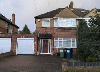 Thumbnail 3 bed semi-detached house to rent in Anglesmede Crescent, Pinner