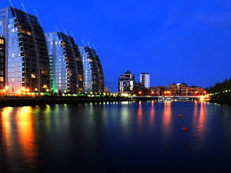 Thumbnail 2 bed flat for sale in N V Building, The Quays, Salford