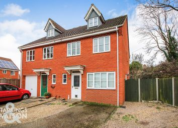 Thumbnail 4 bedroom town house for sale in Burroughs Way, Wymondham