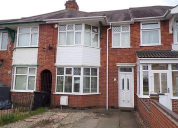 Thumbnail 3 bed terraced house for sale in Broad Avenue, Crown Hills, Leicester, Leicestershire
