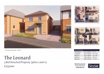 Thumbnail 3 bed detached house for sale in The Heavens - Hardy Way, East Leake, Leicestershire