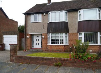 Thumbnail 3 bed semi-detached house for sale in Woolsington Gardens, Woolsington, Newcastle Upon Tyne