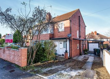 Thumbnail 3 bed semi-detached house for sale in Carrholm Crescent, Chapel Allerton, Leeds