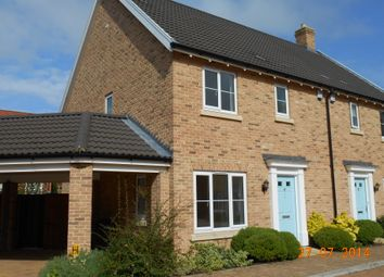 Thumbnail 3 bed semi-detached house to rent in Admiral Wilson Way, Swaffham