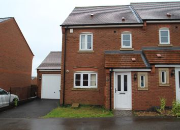 Thumbnail 3 bed semi-detached house for sale in Chamberlains Field, Birstall, Leicester