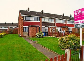 Thumbnail 3 bed end terrace house for sale in Keepers Close, Burntwood