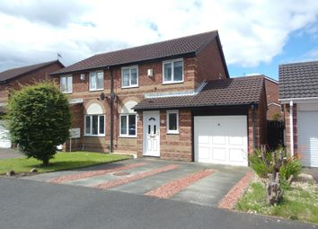 Thumbnail 3 bed semi-detached house for sale in Boulmer Avenue, Cramlington