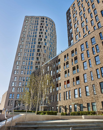 Thumbnail 3 bed flat for sale in Manhattan Plaza, Canary Wharf