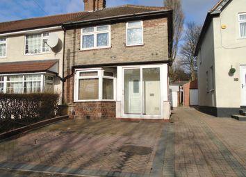 Thumbnail 3 bed end terrace house to rent in Tyburn Road, Erdington, Birmingham