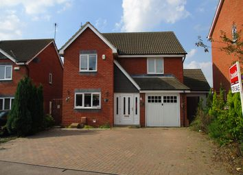 Thumbnail 4 bedroom detached house for sale in Melford Close, Corby