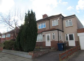 Thumbnail 4 bed semi-detached house to rent in Dene View, Gosforth, Newcastle Upon Tyne