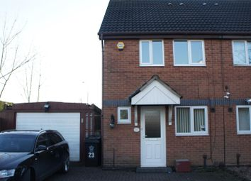 Thumbnail 2 bed semi-detached house for sale in Belfry Drive, Leicester