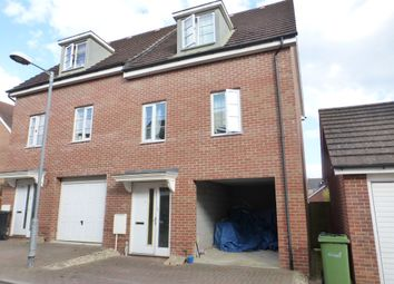 Thumbnail 3 bed town house for sale in Magnolia Way, Costessey, Norwich