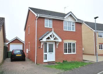 Thumbnail 3 bed detached house for sale in Lidgate Close, Peterborough
