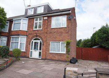 Thumbnail 5 bed semi-detached house for sale in Abbey Lane, Leicester