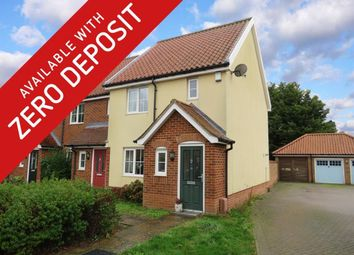 Thumbnail 2 bed end terrace house to rent in Mckee Drive, Tacolneston, Norwich