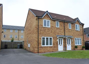 Thumbnail 3 bed semi-detached house for sale in Hudson Way, Grantham