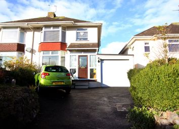 Thumbnail 3 bed semi-detached house for sale in Cadewell Lane, Torquay