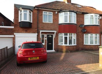 Thumbnail 4 bed semi-detached house for sale in Stocksfield Avenue, Newcastle Upon Tyne