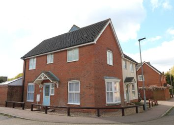 Thumbnail 3 bed semi-detached house to rent in Herb Robert Glade, Wymondham, Norfolk