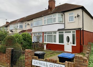 Thumbnail 3 bed end terrace house to rent in Lathkill Close, Bush Hill Park