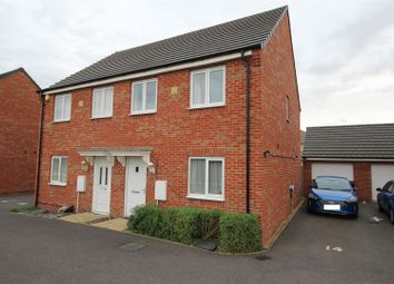 Thumbnail 3 bed semi-detached house for sale in Luna Way, Cardea, Peterborough