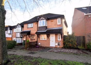 Thumbnail 3 bed end terrace house for sale in Lynmouth Crescent, Furzton, Milton Keynes