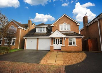 Thumbnail 4 bedroom detached house for sale in Monks Crescent, Leicester, Leicestershire