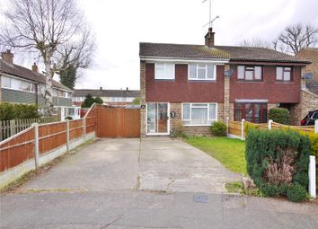 Thumbnail 3 bed semi-detached house for sale in Peony Close, Pilgrims Hatch, Brentwood, Essex