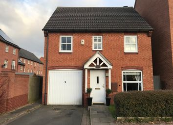 Thumbnail 3 bed detached house to rent in Brooker Close, Coalville