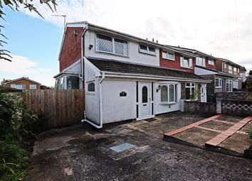 Thumbnail 3 bed end terrace house for sale in Conway Crescent, Tonteg, Pontypridd