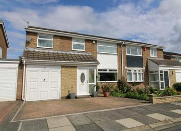 Thumbnail 4 bed semi-detached house for sale in Grosvenor Close, Southfield Green, Cramlington, Northumberland
